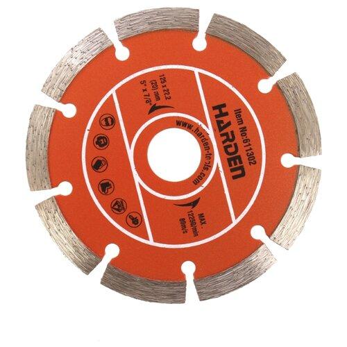Диск алмазный отрезной 125x22.2 Harden 611302 1 шт.