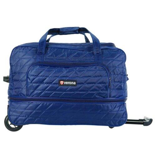 Сумка дорожная verona Capri, 62 л на колесах, синий сумка дорожная verona krona 49 л красный