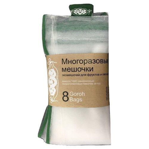 Сетка для хранения для фруктов и овощей Goroh Bags Экомешочки 07ec2411198, 32 см х 27 см, 8 шт