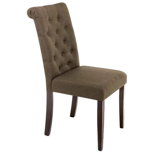 Стул Woodville Amelia, дерево/текстиль, цвет: dark walnut/fabric brown стул woodville amelia дерево текстиль цвет white fabric grey