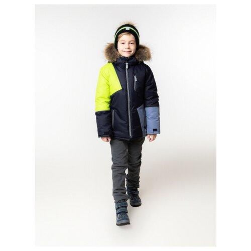 Куртка Stella М-468 размер 128, черный/желтый/серый