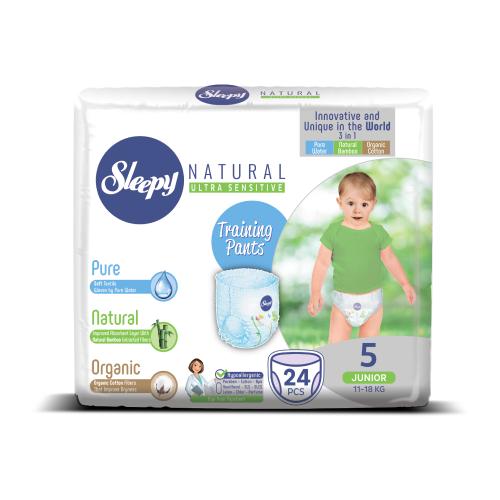 Купить Sleepy трусики Natural Ultra Sensitive 5 (11-18 кг) 24 шт., Подгузники