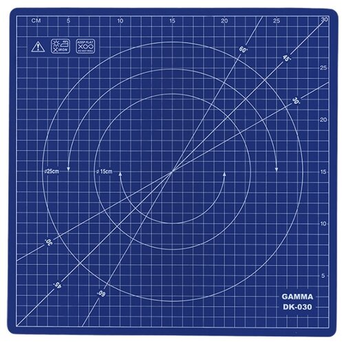 Купить Gamma Вращающийся мат для кроя DK-030, 30 x 30 см синий, Инструменты и аксессуары