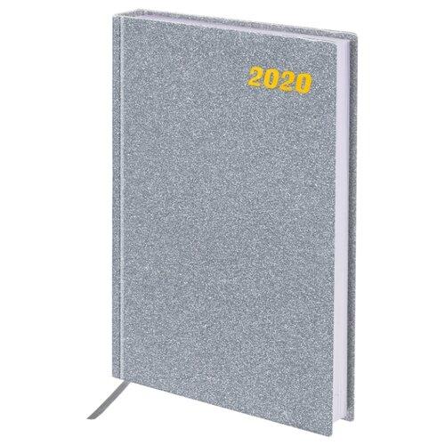 Ежедневник BRAUBERG Holiday датированный на 2020 год, А5, 168 листов, серебристый