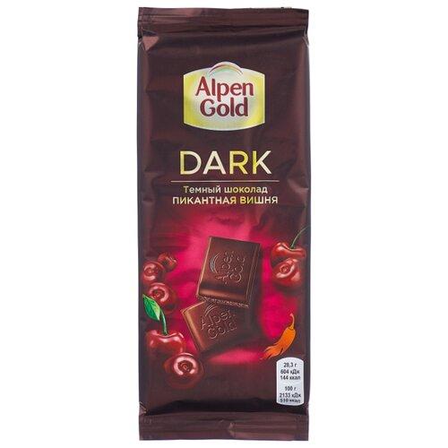 Фото - Шоколад Alpen Gold Пикантная вишня темный с вишневыми кусочками со вкусом перца чили, 85 г шоколад lindt excellence темный с чили 100 г