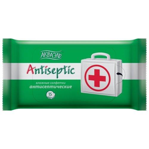 Влажные салфетки Aquaelle Antiseptic, 15 шт.