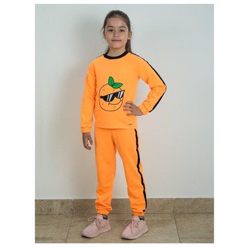 Спортивный костюм Prikinder размер 128, оранжевый
