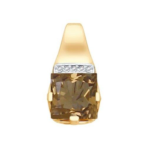SOKOLOV Подвеска из золота с раухтопазом и фианитами 731813