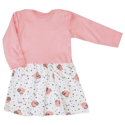 Платье KotMarKot Звездная овечка размер 68, персиковый