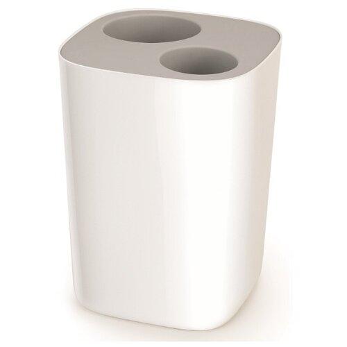 Контейнер мусорный Joseph Joseph Split™ для ванной комнаты, бело-серый контейнер для мусора с прессом titan 20 л серый joseph joseph 30039