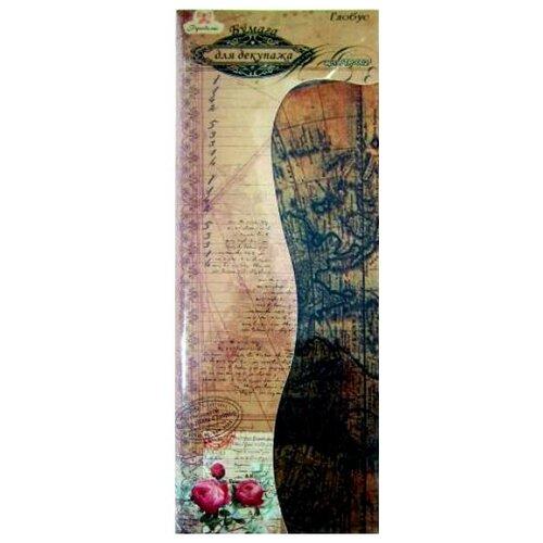 Купить Набор бумаги для декупажа Рукоделие Глобус, 395x495 мм (6шт), Карты, салфетки, бумага