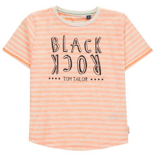 Футболка Tom Tailor размер 104/110, оранжевый футболка tom tailor tom tailor to793embmtw6