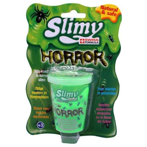 Слайми. Слайм Ужастики с игрушкой, зеленый, 80 г. ТМ Slimy