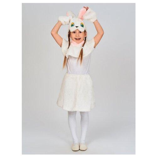 Купить Костюм Радомир Зайка (С1011), белый, размер 104-134, Карнавальные костюмы