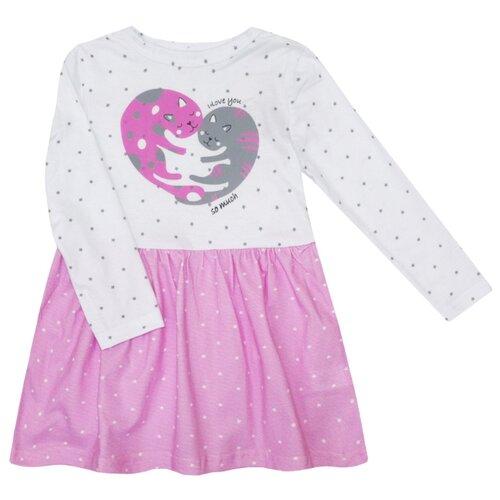 Платье KotMarKot размер 128, розовый