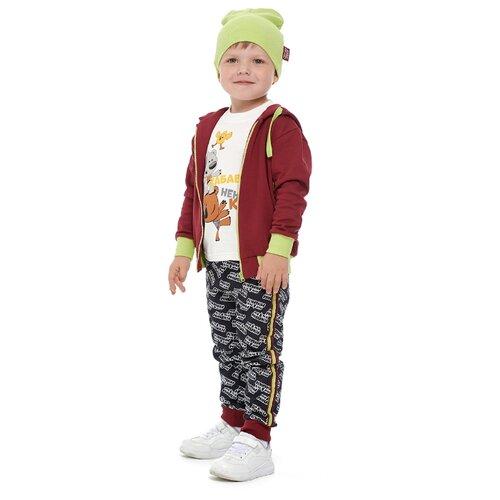 Толстовка lucky child размер 28 (92-98), бордовый худи lucky child размер 28 92 98 фиолетовый