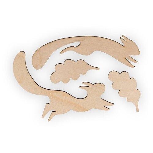 Купить Mr. Carving Набор заготовок для декорирования Белочки ВД-546 (4 шт.) бежевый, Декоративные элементы и материалы