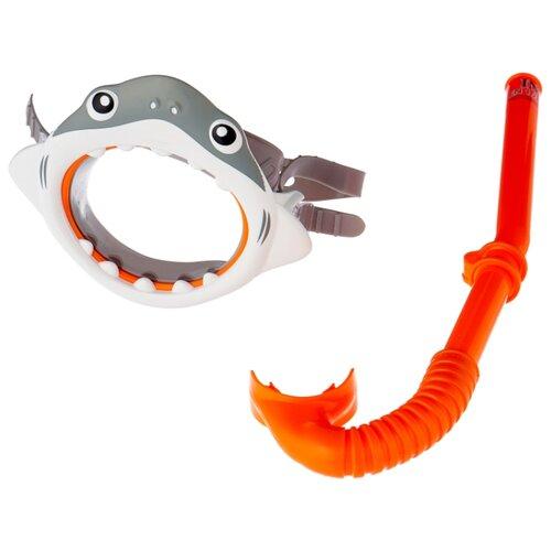 Набор для плавания Intex Shark fun серый / оранжевый