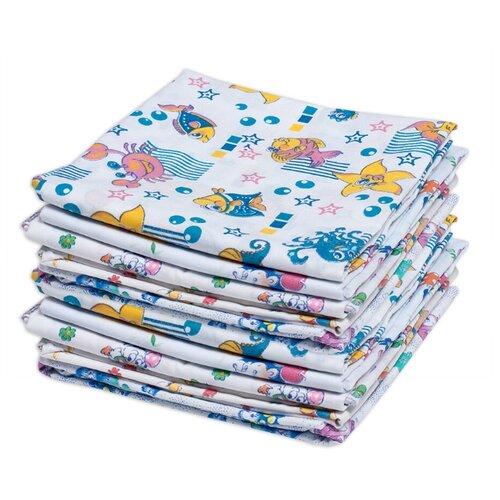 Купить Пеленки для новорожденных ситцевые Для самых маленьких , 80*120 см, 10 шт, Чудо-Чадо, Пеленки, клеенки