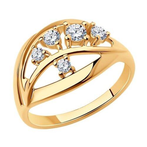 Diamant Кольцо из золочёного серебра с фианитами 93-110-00536-1, размер 17 diamant кольцо из золочёного серебра 93 110 00601 1 размер 17