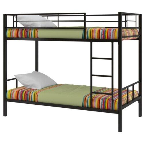 Двухъярусная кровать Redford Севилья-2, размер (ДхШ): 198х96 см, спальное место (ДхШ): 190х90 см, каркас: металл, цвет: черный