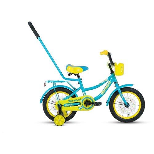 Детский велосипед FORWARD Funky 14 (2020) бирюзовый/желтый (требует финальной сборки)