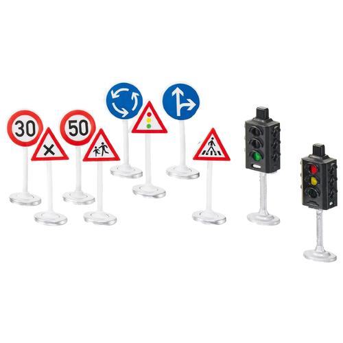 Купить Siku Светофоры и дорожные знаки 5597 красный/синий/белый/серый, Детские парковки и гаражи