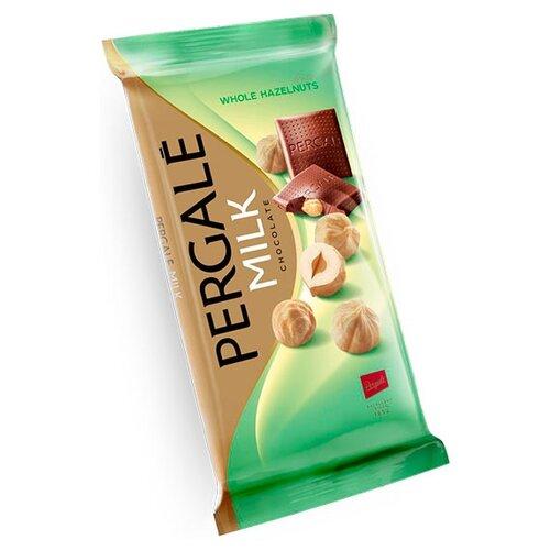 Шоколад Pergale молочный с цельным фундуком 30% какао, 100 г