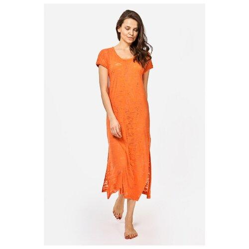 Фото - Длинное платье-туника из эластичной вискозы, оранжевый, размер XL платье туника panicale платье туника