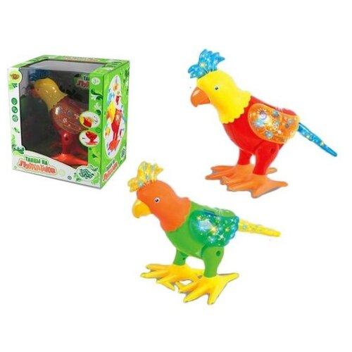 Купить Интерактивная игрушка Наша Игрушка Попугай, э/ф, свет, звук и движения (M8920-2), Наша игрушка, Развивающие игрушки
