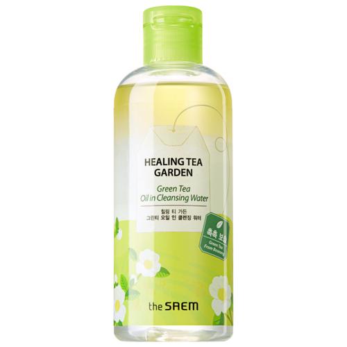 Купить The Saem двухфазное очищающее средство для снятия макияжа с экстрактом зеленого чая Healing Tea Garden Green Tea Oil In Cleansing Water, 300 мл