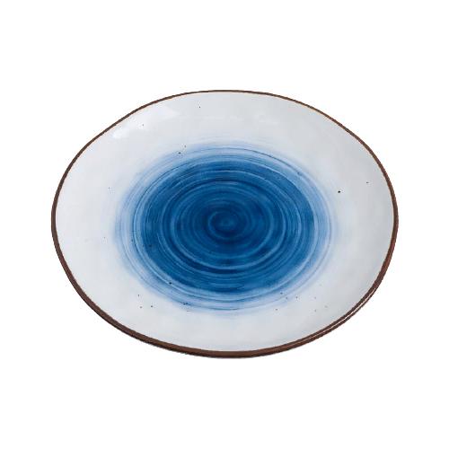 Доляна Тарелка Нептун 19 см белый/синий