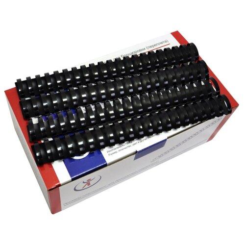 Пружина пластиковая для переплета, 32 мм, для сшивания 265-300 листов, белая, 50 шт, РеалИСТ