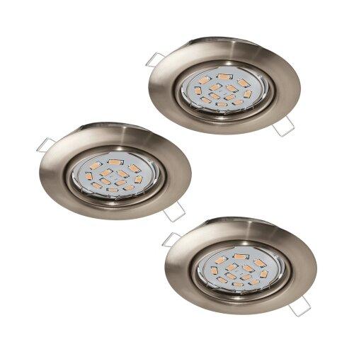 Встраиваемый светильник Eglo Peneto 3 шт. 94408 встраиваемый светодиодный светильник eglo peneto 1 95899