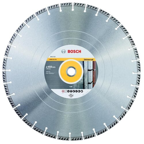 Фото - Диск алмазный отрезной BOSCH Standard for Universal 2608615074, 450 мм 1 шт. диск алмазный отрезной bosch standard for universal turbo 2608602395 150 мм 1 шт