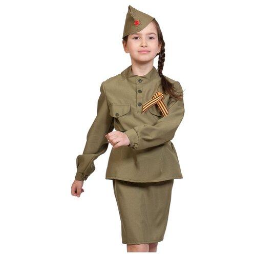 Купить Костюм КарнавалOFF Воины победы Солдаточка (5099), хаки, размер 92-110, Карнавальные костюмы