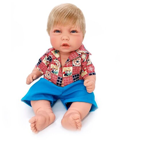 Кукла Manolo Dolls Noa nino, 48см, 8076 кукла младенец manolo dolls мягконабивной canguros 30см 4500