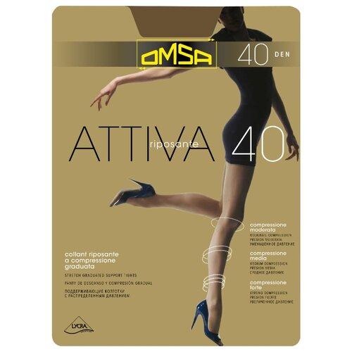 Колготки Omsa Attiva 40 den, размер 2-S, nero (черный) колготки omsa attiva 20 den размер 2 s nero черный