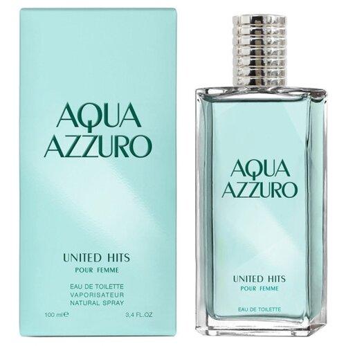цена Туалетная вода United Hits Aqua Azzuro, 100 мл онлайн в 2017 году