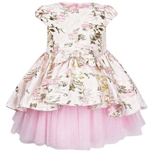 Платье David Charles размер 74, розовый/бежевый