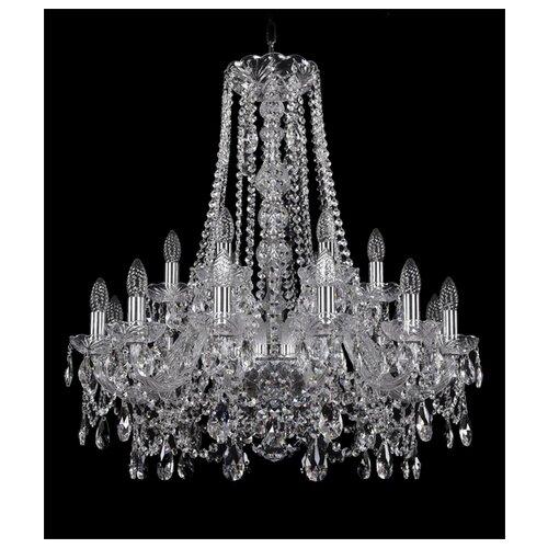 Фото - Люстра Bohemia Ivele Crystal 1411 1411/12+6/240/h-80/Ni, E14, 720 Вт люстра bohemia ivele crystal 1411 1411 12 6 300 h 94 g e14 720 вт