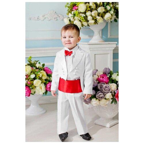 Комплект одежды Liola размер 134, белый/красный комплект одежды liola размер 134 белый красный
