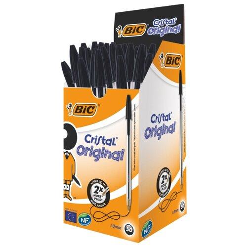 BIC Набор шариковых ручек Cristal Original, 1 мм (875976/847899/847898/847897), черный цвет чернил