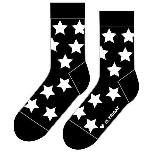Фото - Носки St. Friday Звездец, размер 34-37, черный носки st friday цой жив гуф умер размер 34 37 черный