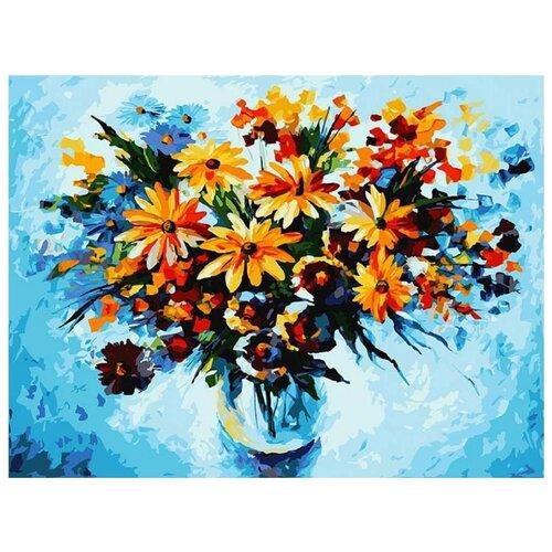 Купить Картина по номерам Белоснежка Ромашки 4 , 30x40 см, Картины по номерам и контурам