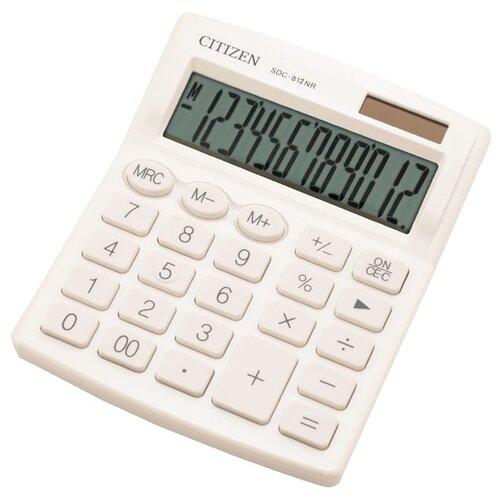 Калькулятор бухгалтерский CITIZEN SDC-812NR белый