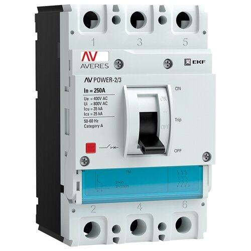 Автоматический выключатель EKF AV POWER-2/3 3P 35kA 250 А