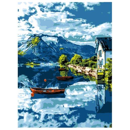 LORI Ркн/ф-232 Картина по номерам 38х28,5 см Озеро в Норвегии
