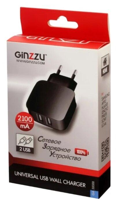 Сетевая зарядка Ginzzu GA-3008B