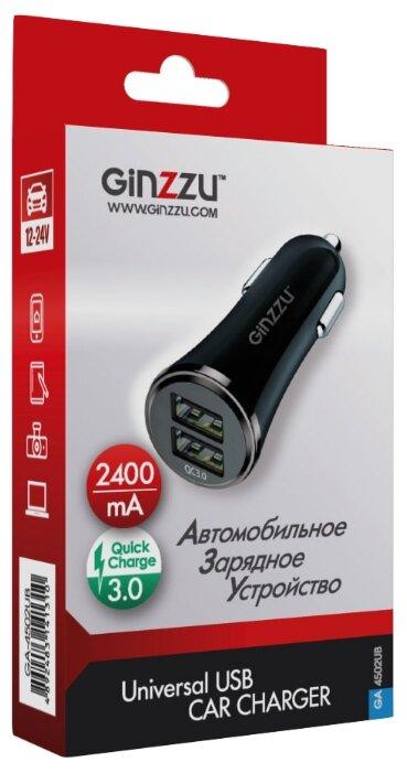 Автомобильная зарядка Ginzzu GA-4502UB
